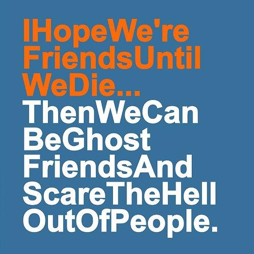 Ghost Friends card