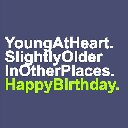 Young at Heart card
