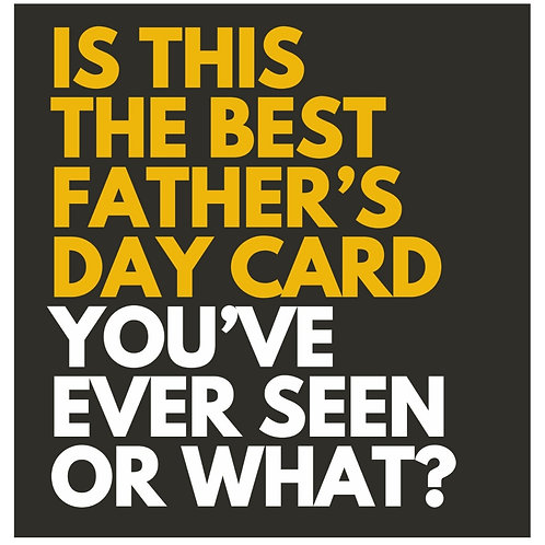 Best Father's Day card