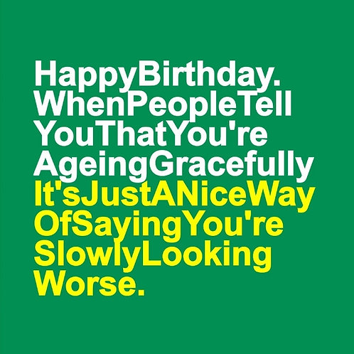 Ageing Gracefully card