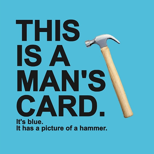 This is a Man's card