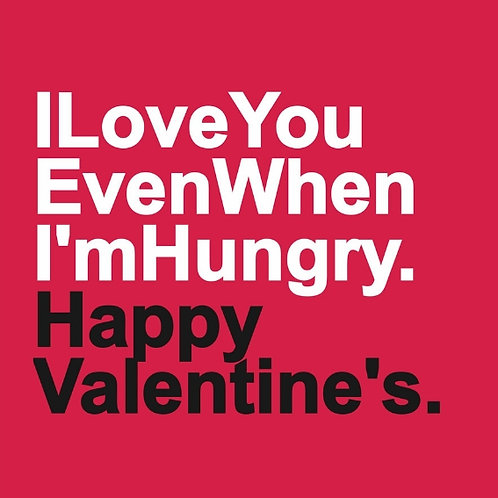 Hungry Love card