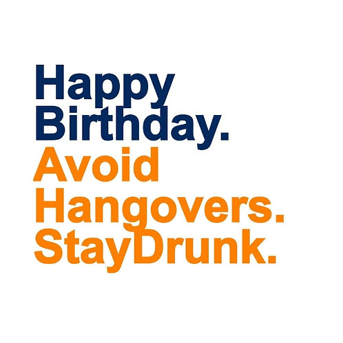 Avoid Hangovers card