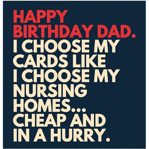 Dad's Chosen card