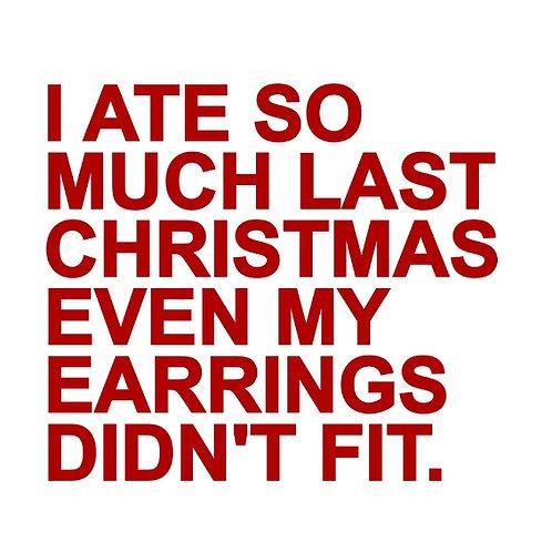 Christmas Earrings card