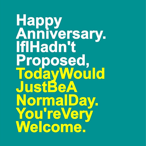 Anniversary Welcome card