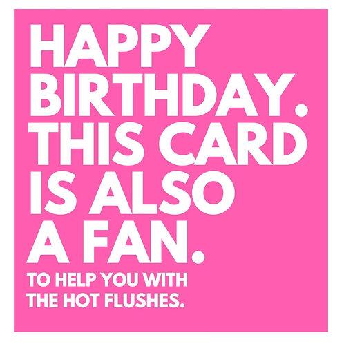 Fan Hot Flushes card