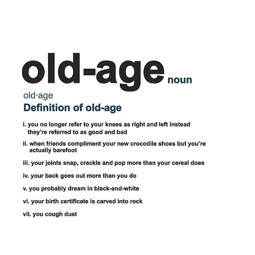 Old-Age Definition card