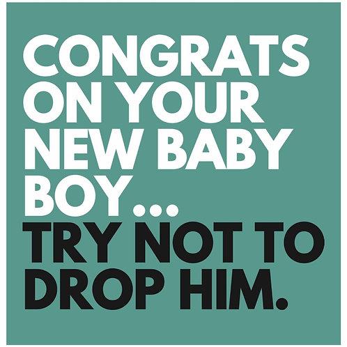 Baby Boy Drop card