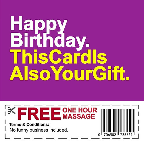 Birthday Massage Voucher card