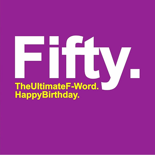 Fifty F-Word card