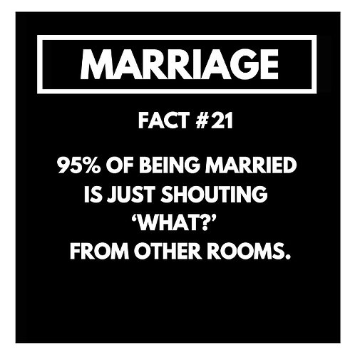 Marriage Fact#21 card