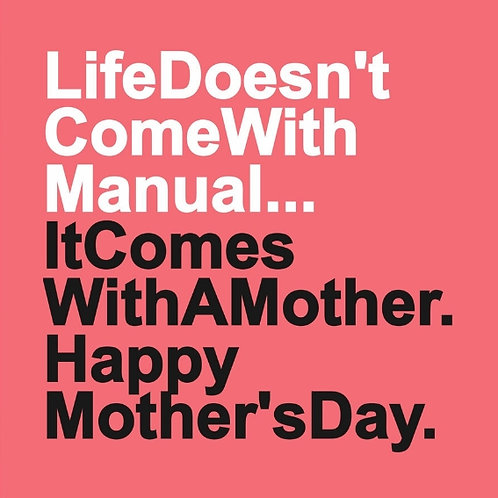 Mother's Day Manual card
