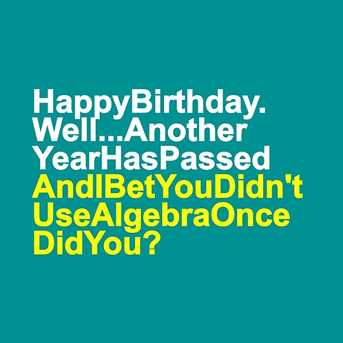 Algebra card