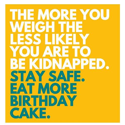 Safe Cake card