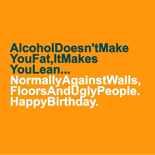 Alcohol Lean card