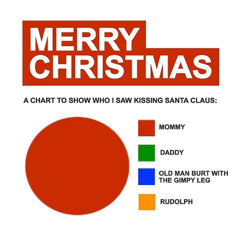 Santa Kissing Chart card