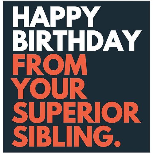 Superior Sibling card
