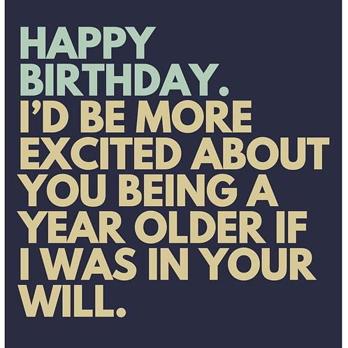 Excited About Being Older card