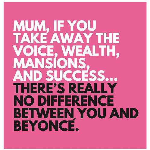 Mum Beyonce card