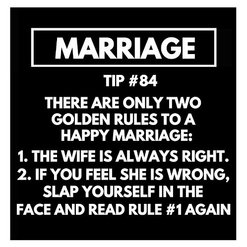 Marriage Tip#84 card