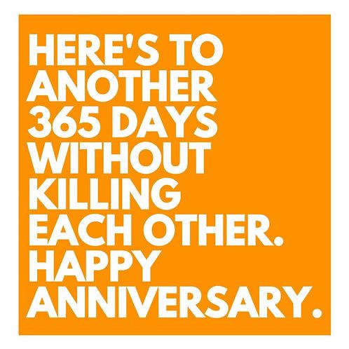365 Days Anniversary card