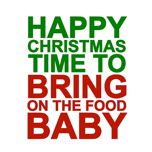 Christmas Food Baby card