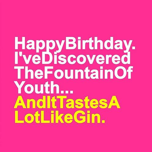Gin Fountain card
