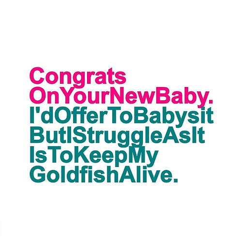 New Baby Goldfish card