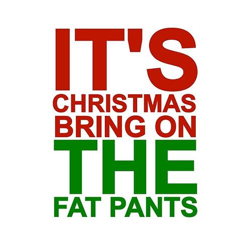 Christmas Fat Pants card