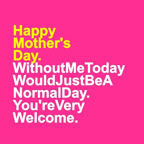 Mother's Day Welcome card