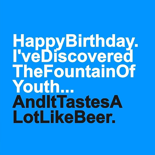 Beer Fountain card