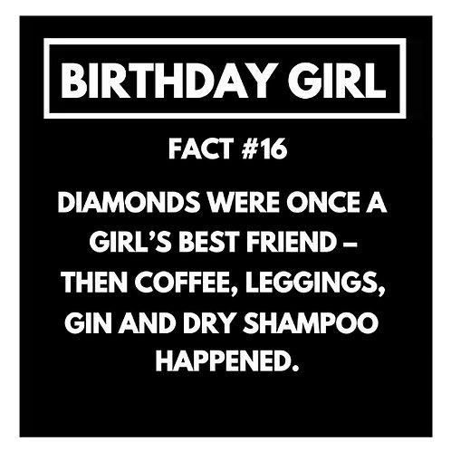 Birthday Girl Fact#16 card