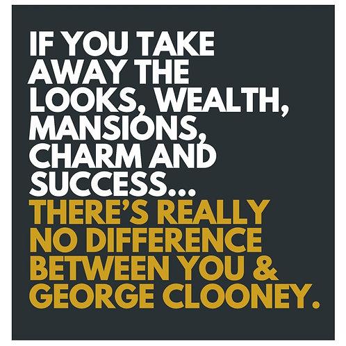 George Clooney card