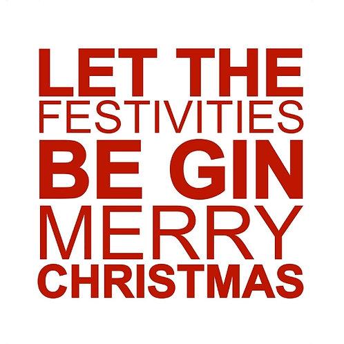 Gin Festivities card