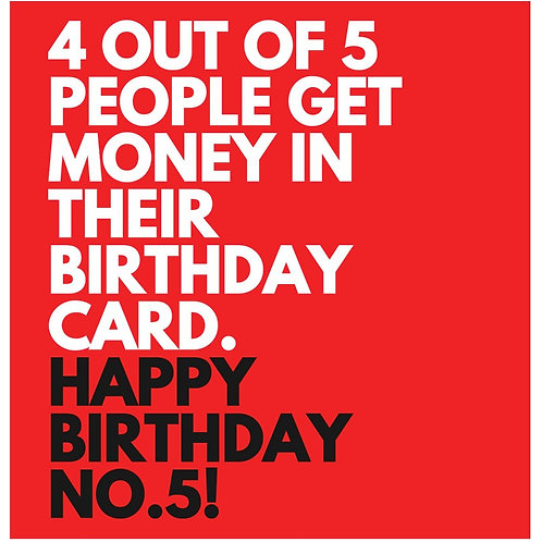 Birthday No.5 card