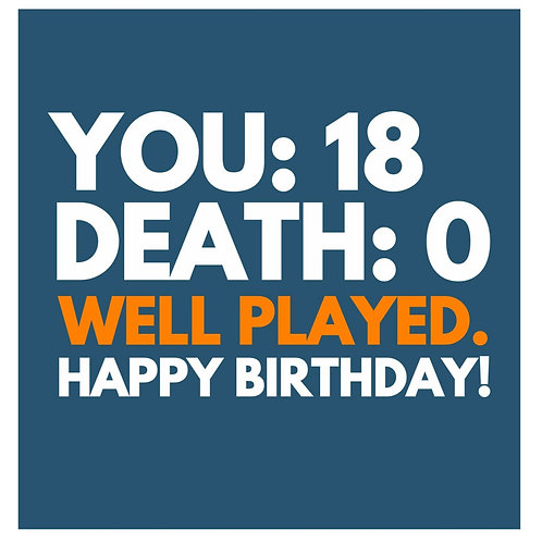 18 Well Played card