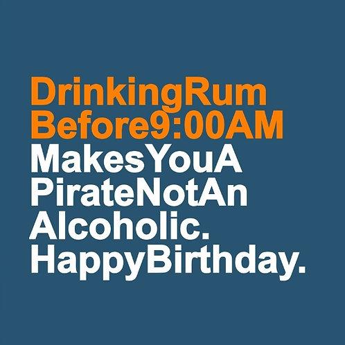 Drinking Rum card