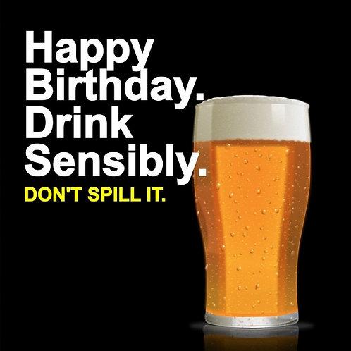 Drink Sensibly card