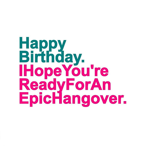 Epic Hangover card