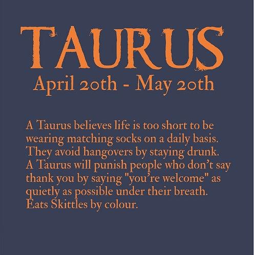 Taurus Horoscope card
