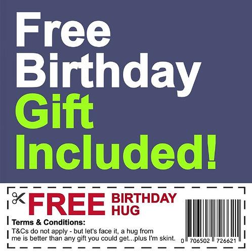 Birthday Hug Voucher card
