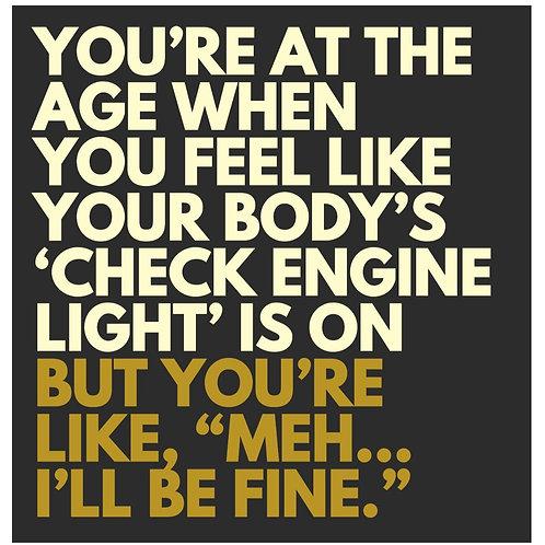 Body Engine Light card