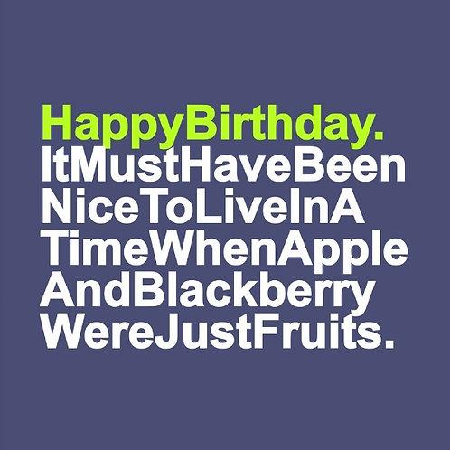 Birthday Fruits card