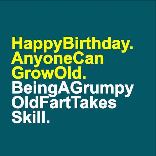 Grumpy Old Fart card