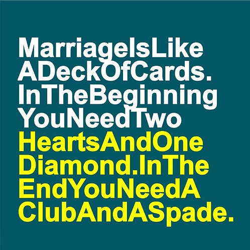 Marriage Deck card