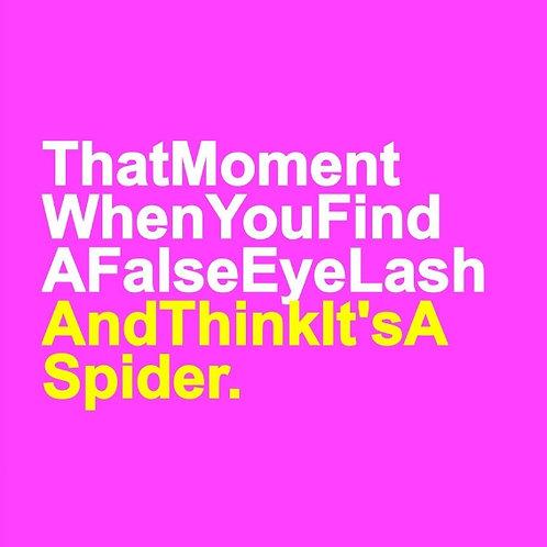False Eye Lash card