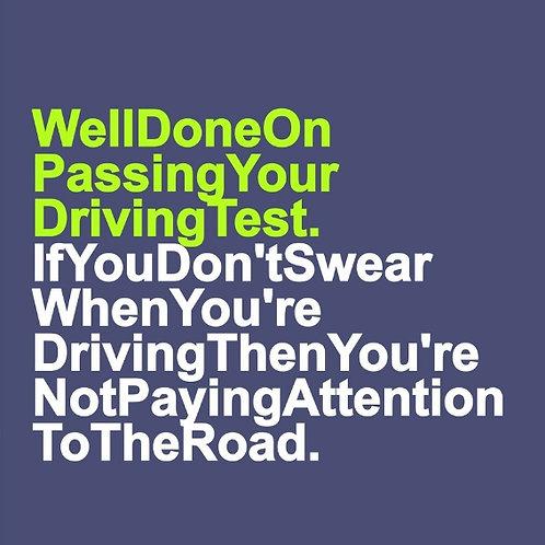 Driving Swearing card