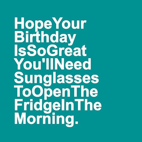 Birthday Sunglasses card