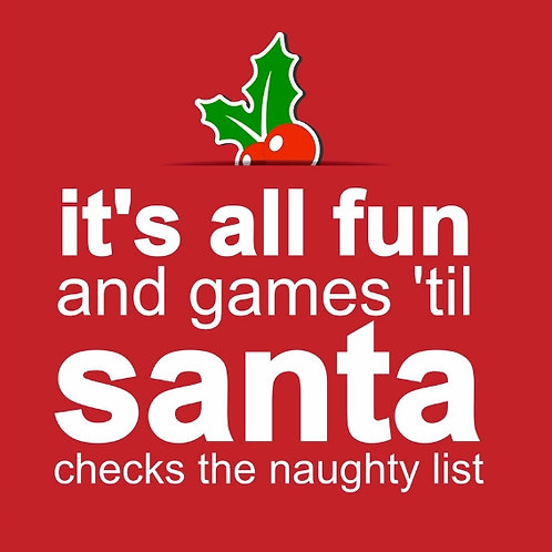 Santa Fun 'n' Games card